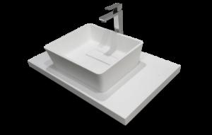 Superficies sólidas a medida para baños: lavabos y encimeras