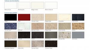 Diferentes colores de superficies sólidas